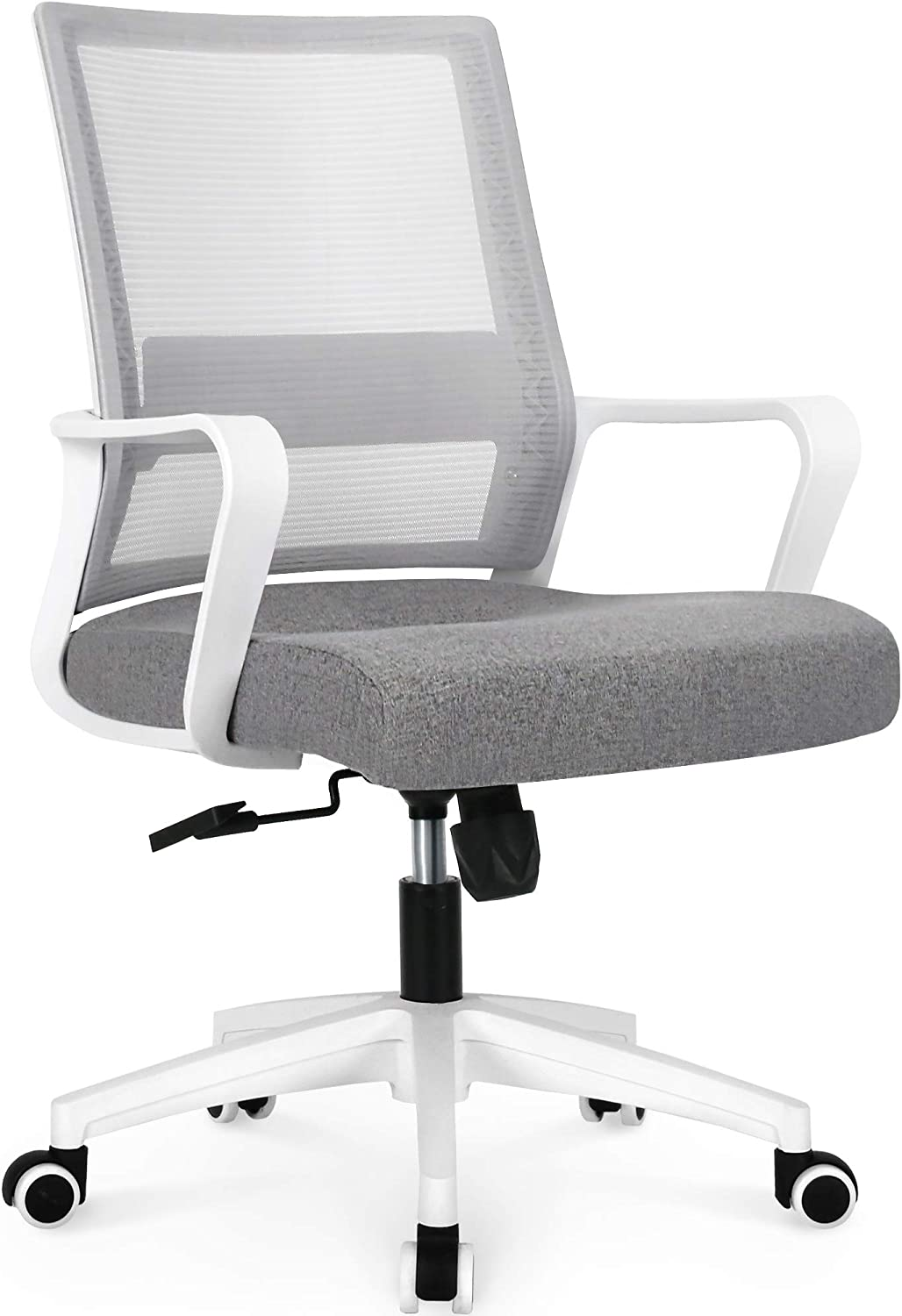 NEO CHAIR Office Chair Ergonomic Desk Chair Mesh Computer Chair Lumbar Support Modern Executive Adjustable Rolling Swivel Chair Comfortable Mid Black Task Home Office Chair, Grey