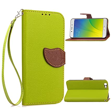 uk availability 1d613 edc3d Amazon.com: Scheam Oppo R9s Leather Wallet Case with Leather Phone ...