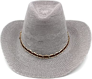 Fishing hat//Cowboy hat M//Increase The Brim Beach hat//Sunscreen Sun hat Female//Old Straw hat