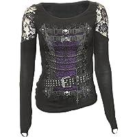 Spiral - Waisted Corset - Shoulder Lace Top Black