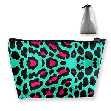 301493b6d1b9 Amazon.com: TLDRZD Cheetah Mint Green Leopard Pencil Case Pen Zipper ...