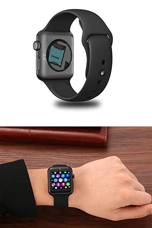 Amazon.com: ⌚ LEMFO LF07 Bluetooth Smart Watch SmartWatch for Apple iPhone iOS Android Smartphones Looks Like Apple Watch Reloj Inteligente (Black): Cell ...