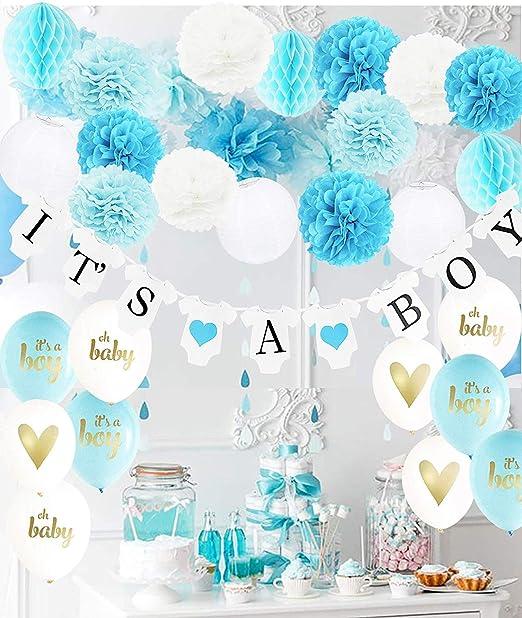 Decoracion De Baby Shower Para Nino.Decoracion Para Baby Shower Para Nino Es Un Nino Banderines