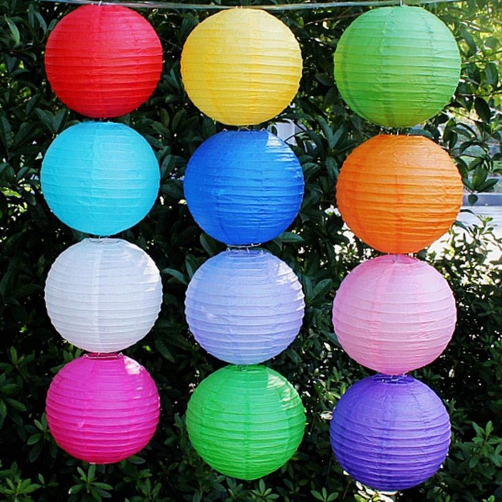TTYAC Caf/é Chinois Rond en Papier Lanterne Ballon Lampe Ball Lumi/ère Fournitures Halloween F/ête De Mariage Halloween Festival D/écoration Lanternes 4 Pouces 10 cm Beige