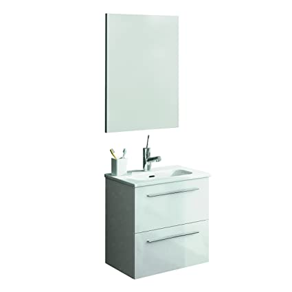 Floating Bathroom Vanities | Amazon Com 20 Floating Bathroom Vanity Set Royo Street High Gloss