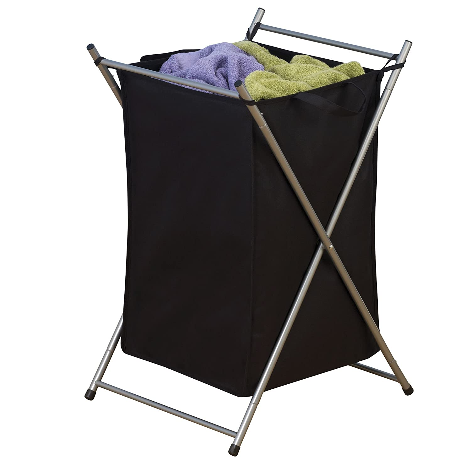 Amazon.com: Household Essentials Folding Laundry Hamper with Black ...