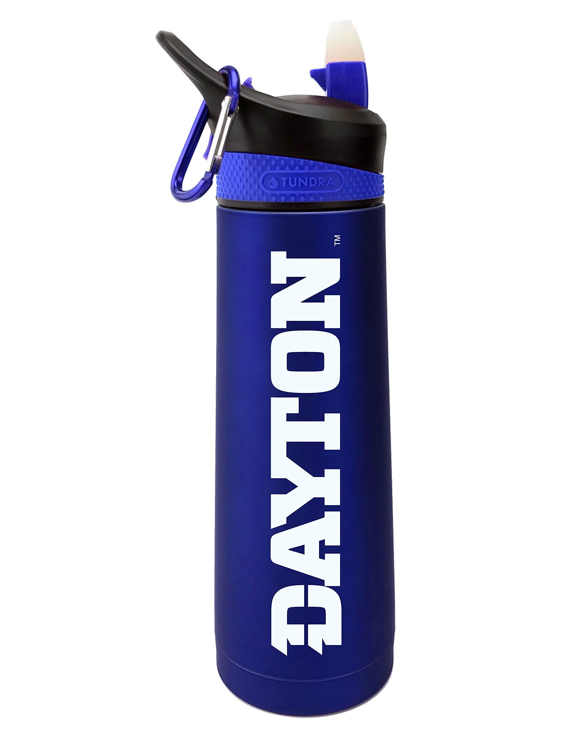 Fanatic Group University of Dayton Dual Walled Stainless Steel Sports Bottle, Design 1 - Blue