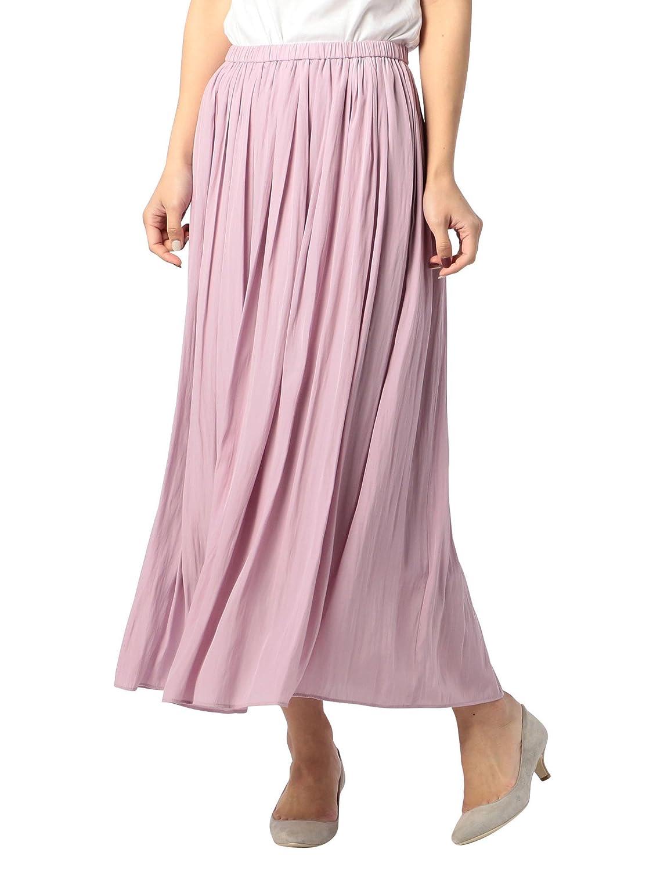 (ノーリーズ) NOLLEY'S 割繊ロング丈ギャザースカート 8-0040-1-06-006 B079K8397K 38|ピンク ピンク 38