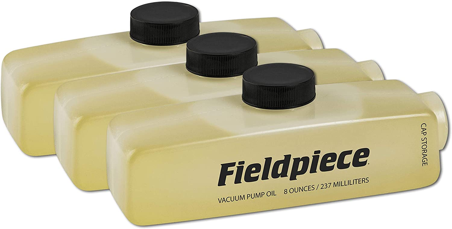 Fieldpiece OIL8X3 - Vacuum Pump Oil, Three Pack of 8 oz Containers