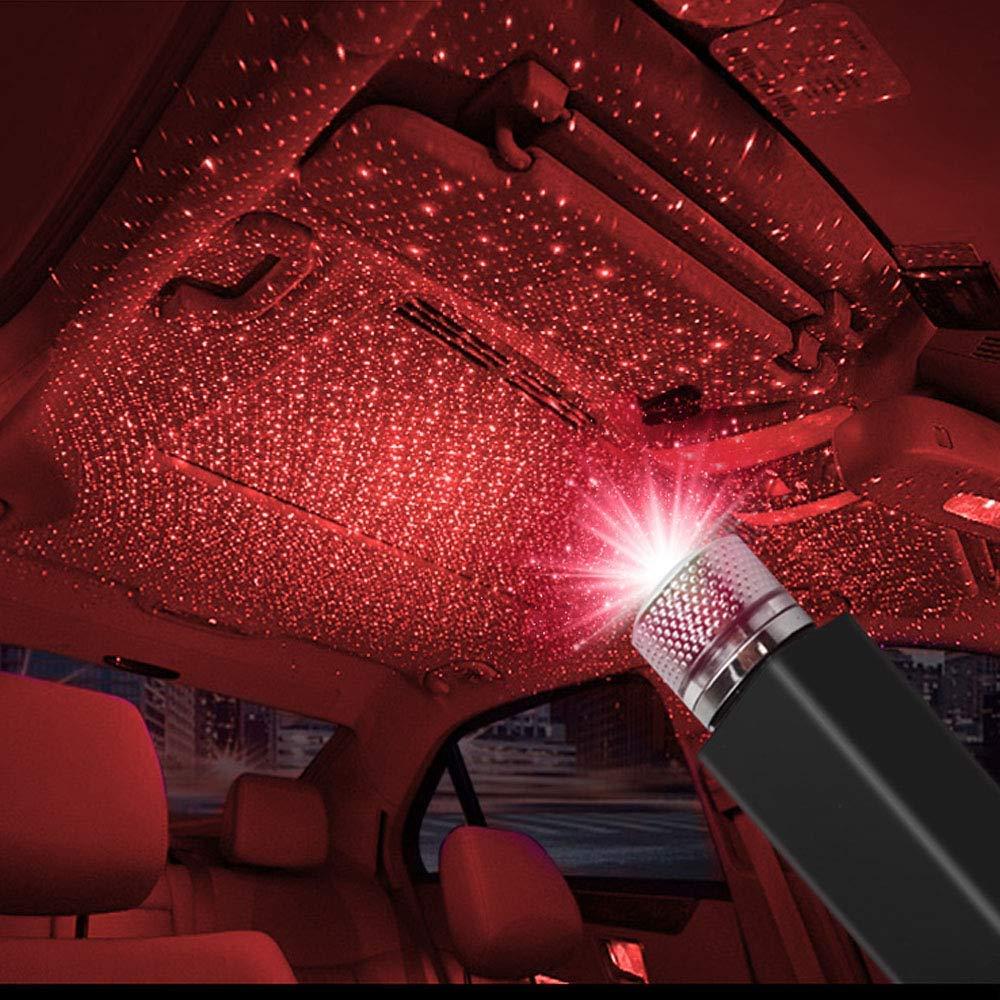 luci decorative per interni di Natale blu Plug and Play non /è necessario installare Luce per auto con atmosfera USB per auto romantiche luci sul tetto per auto a LED per la festa a casa in auto