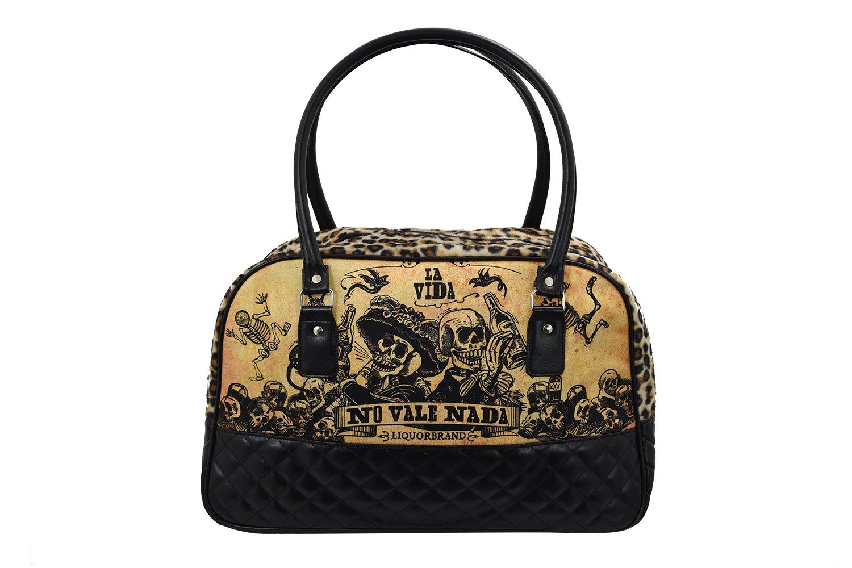 Liquor Brand La Vida Overnight Weekender Bowler Bag Purse