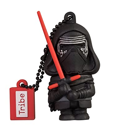 Llave USB 16 GB Kylo Ren - Memoria Flash Drive 2.0 Original Star Wars, Tribe FD030503