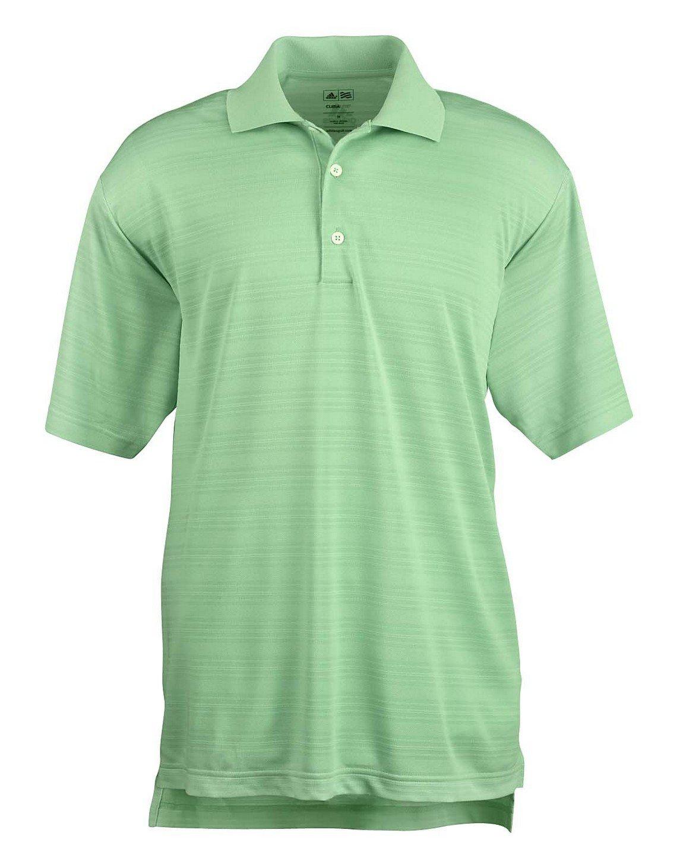 adidas Golf Mens Climalite Textured Short-Sleeve Polo (A161) -Gecko -3XL
