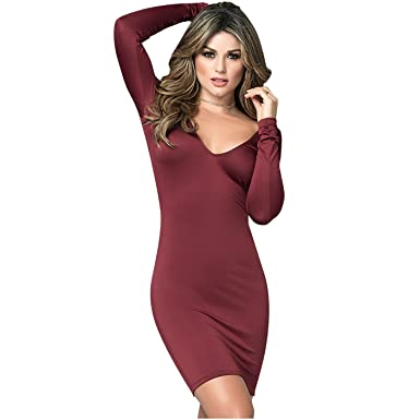 Mapalé 4471 Lingerie Sexy Long Sleeve Dress for Women Vestido Mujer Manga Larga