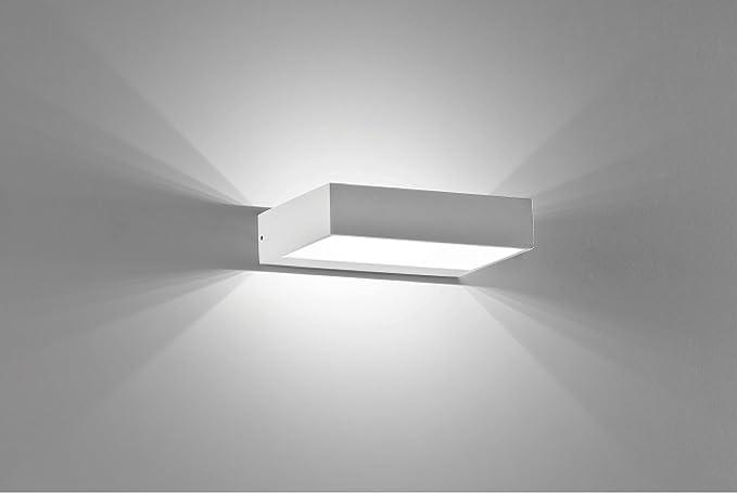 Applique lampada da parete in alluminio led 6 watt design