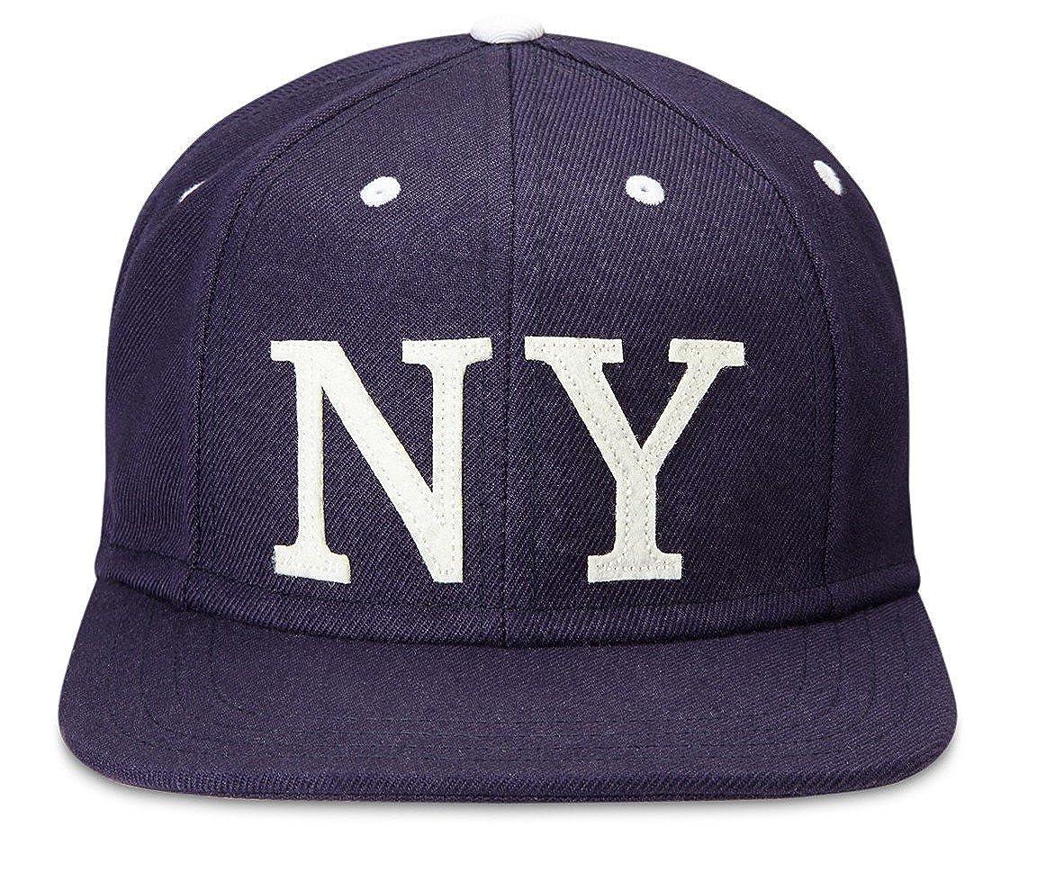 Gents The Ace NY Flat Brim Snapback Baseball Cap Navy One Size at Amazon  Men s Clothing store  5d75d359527
