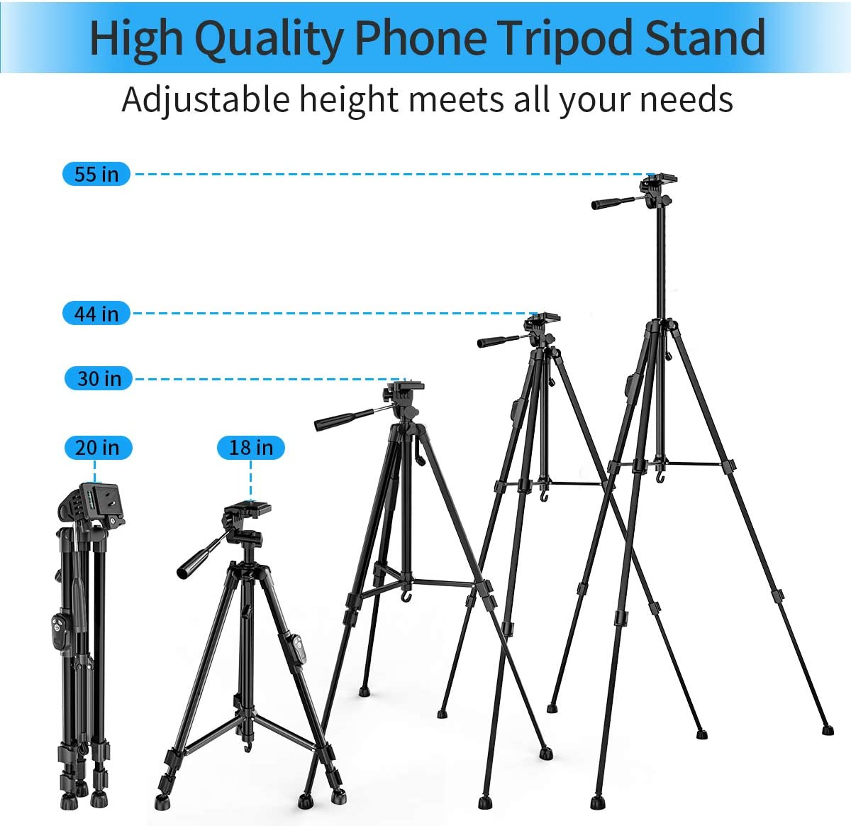 Color : Photo Color, Size : One Size GQMNL Tripod Aluminum Tripod Mount Stand Standard 1//4 Inch Screw Holder Photo Tripod Tripe for Travel and Work
