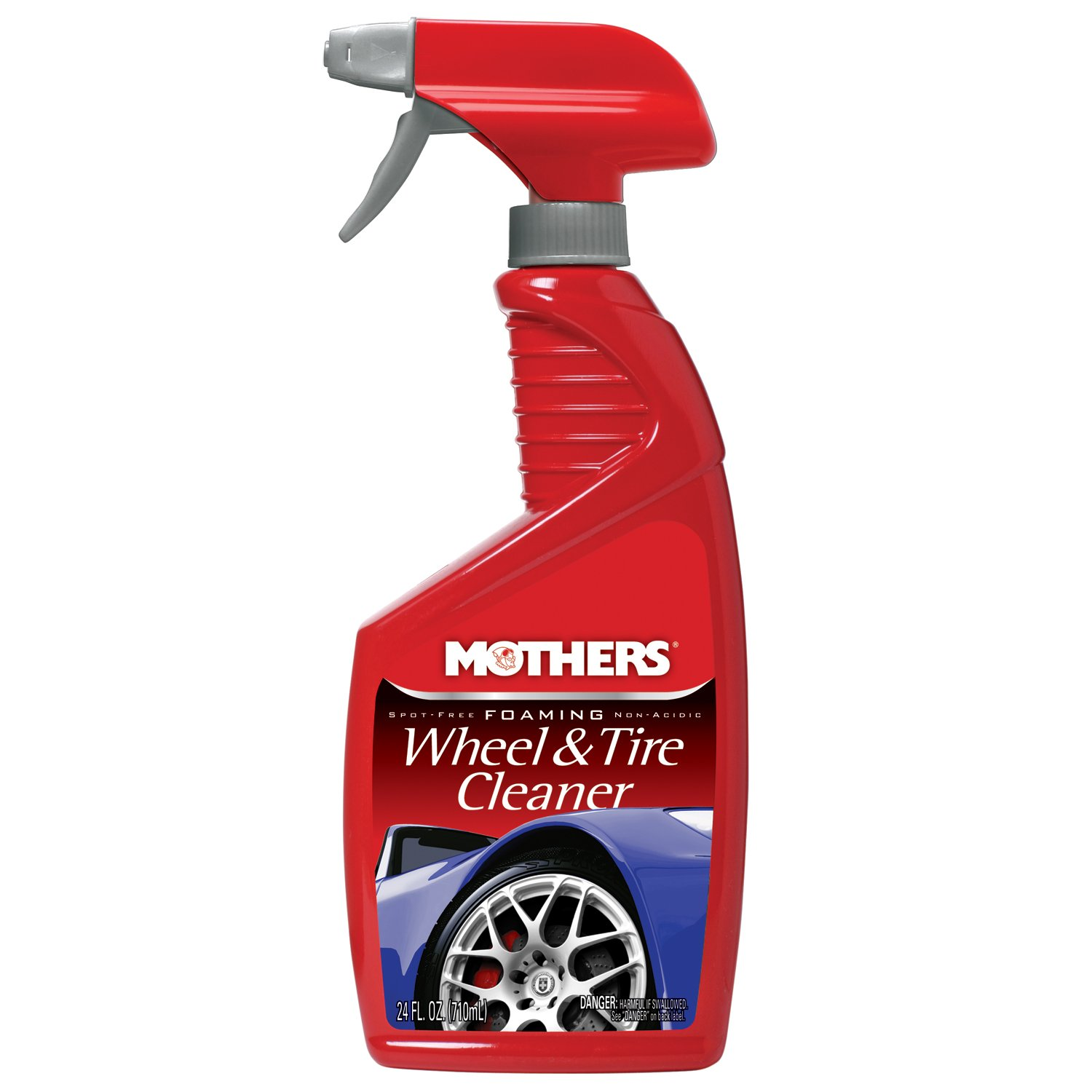 Mothers 05924-6 Foaming Wheel & Tire Cleaner - 24 oz, (Pack of 6)