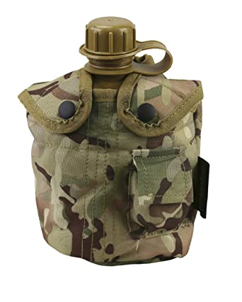 Army Combat Military Water Bottle US GI British Olive Green Waist Belt Pouch New