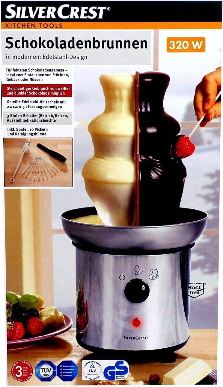 Silvercrest Acero Inoxidable chocolateras/Chocolate/fondue para 2 variedades: Amazon.es: Hogar