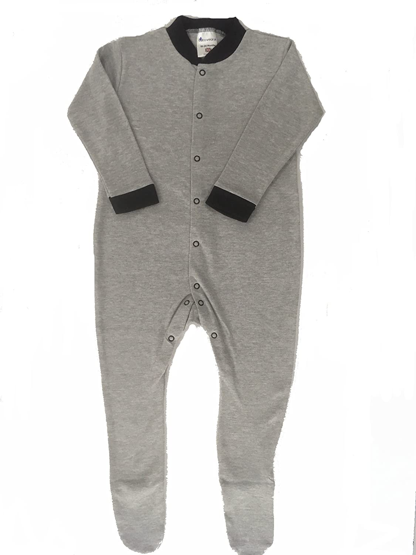 0//3 Months British Made BabywearUK Grey Marl Sleepsuit