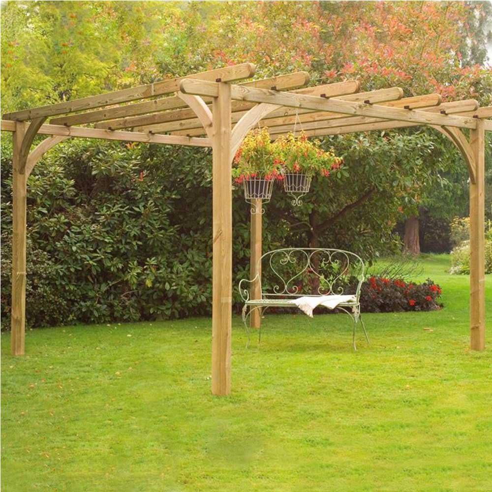 Ultima Kit Pergola 2, 7 x 2, 7 m estructura de jardín al aire libre función de marco: Amazon.es: Jardín