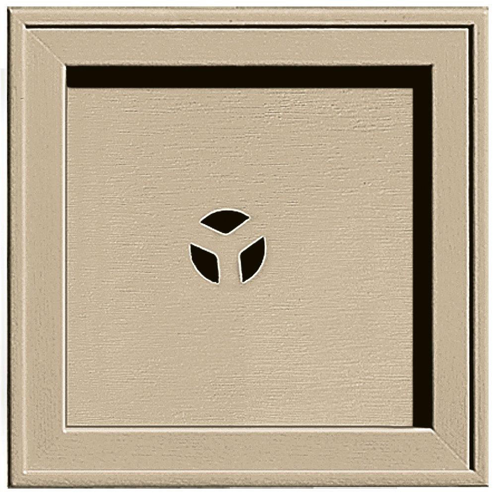 Builders Edge 130110004013 Recessed Square Mounting Block 013, Light Almond