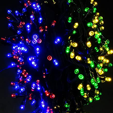 trendbox 20m 65ft colorful solar energy powered 200 led string fairy bright light decorative atmosphere - 65ft Christmas Tree