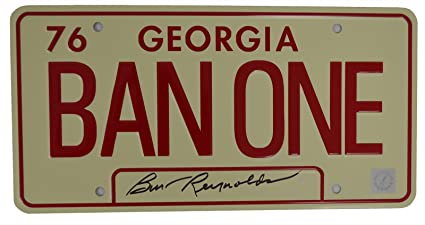 Amazon.com: Burt Reynolds Autographed BAN ONE Georgia Smokey ...