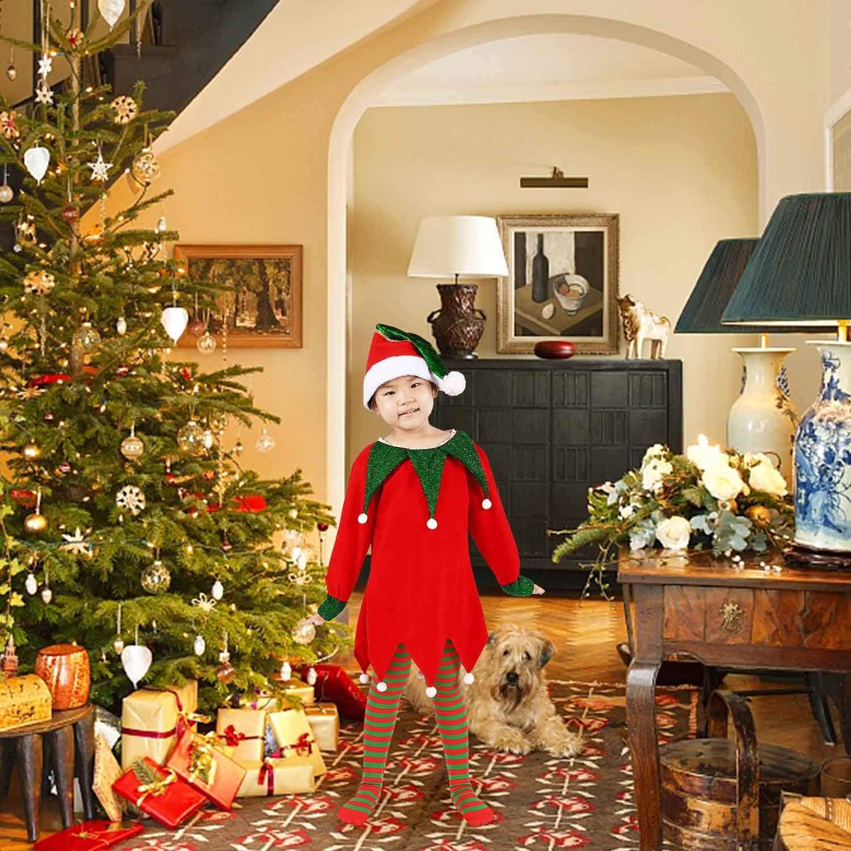 A ANLEOLIFE Christmas Elf Costume for Kids