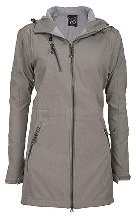 Luxusmode kaufen neue Fotos Dry Fashion Softshellmantel Damen Lang | Mantel Modell Kampen | Softshell  Jacke Mit Fleece Innenfutter | Wind- und Wasserabweisend