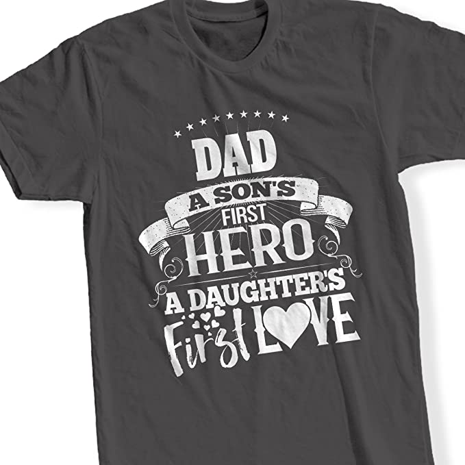 8b84b5659 Amazon.com: PEAK Personalized Dad T Shirt for Men Father's Day Best ...
