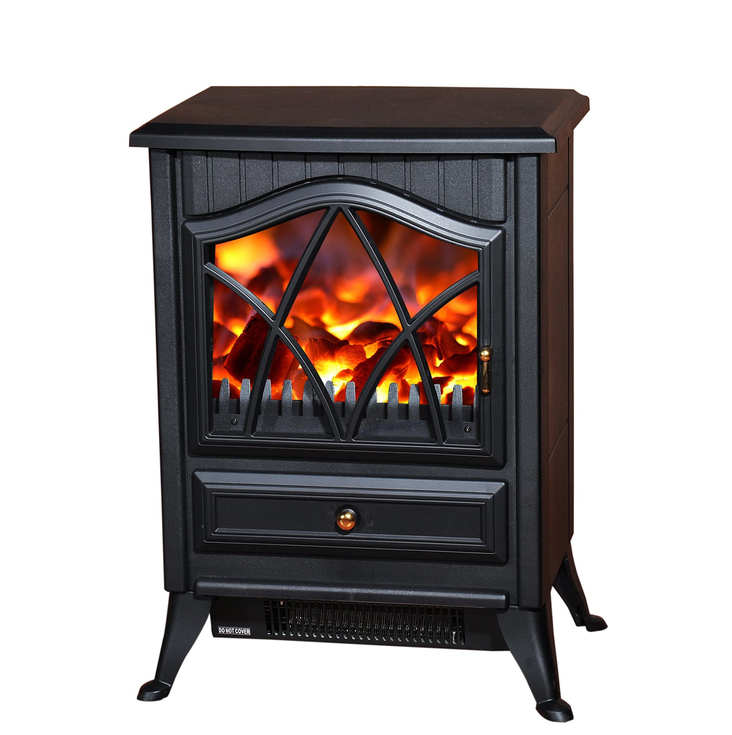 Homcom 1850w Log Burning Flame Effect Stove Heater Electric Fire Place Firepl