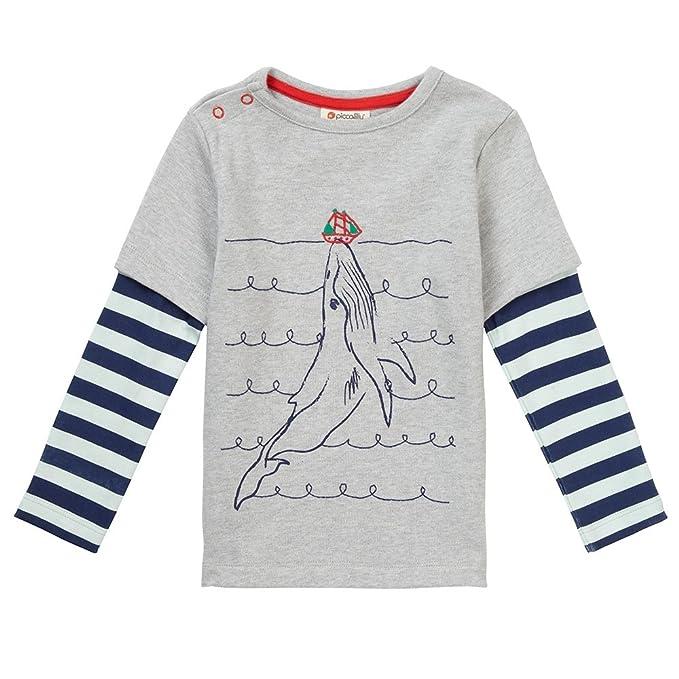 Piccalilly Camiseta, Jersey de Algodón Orgánico, Niños, Ballena: Amazon.es: Ropa y accesorios