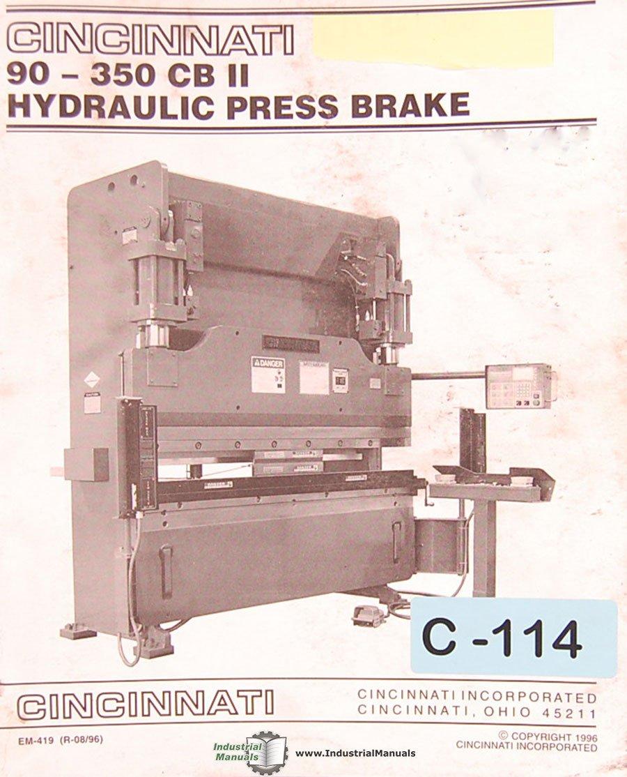 cincinnati 90 350 cbii press brake operations maintenance hydraulic rh amazon com Hydraulic Press Brake Circuit Hydraulic Press Brake Circuit