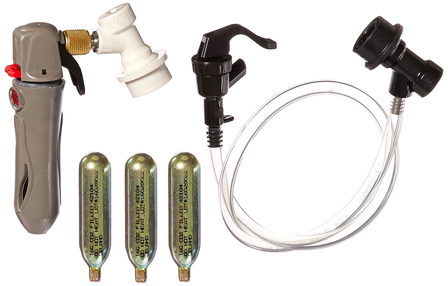 Co2 Keg Charger with Ball Lock Connection, Picnic Faucet Dispenser ...
