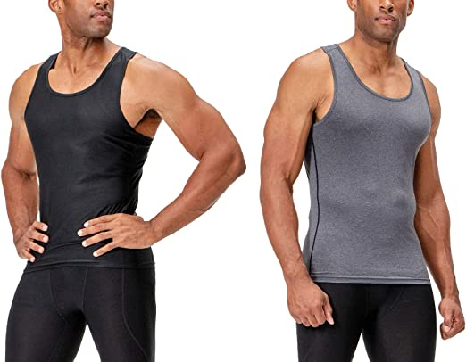 Men/'s Compression Tank Top Running Football Gym Vests Spandex Quick-dry Dri fit