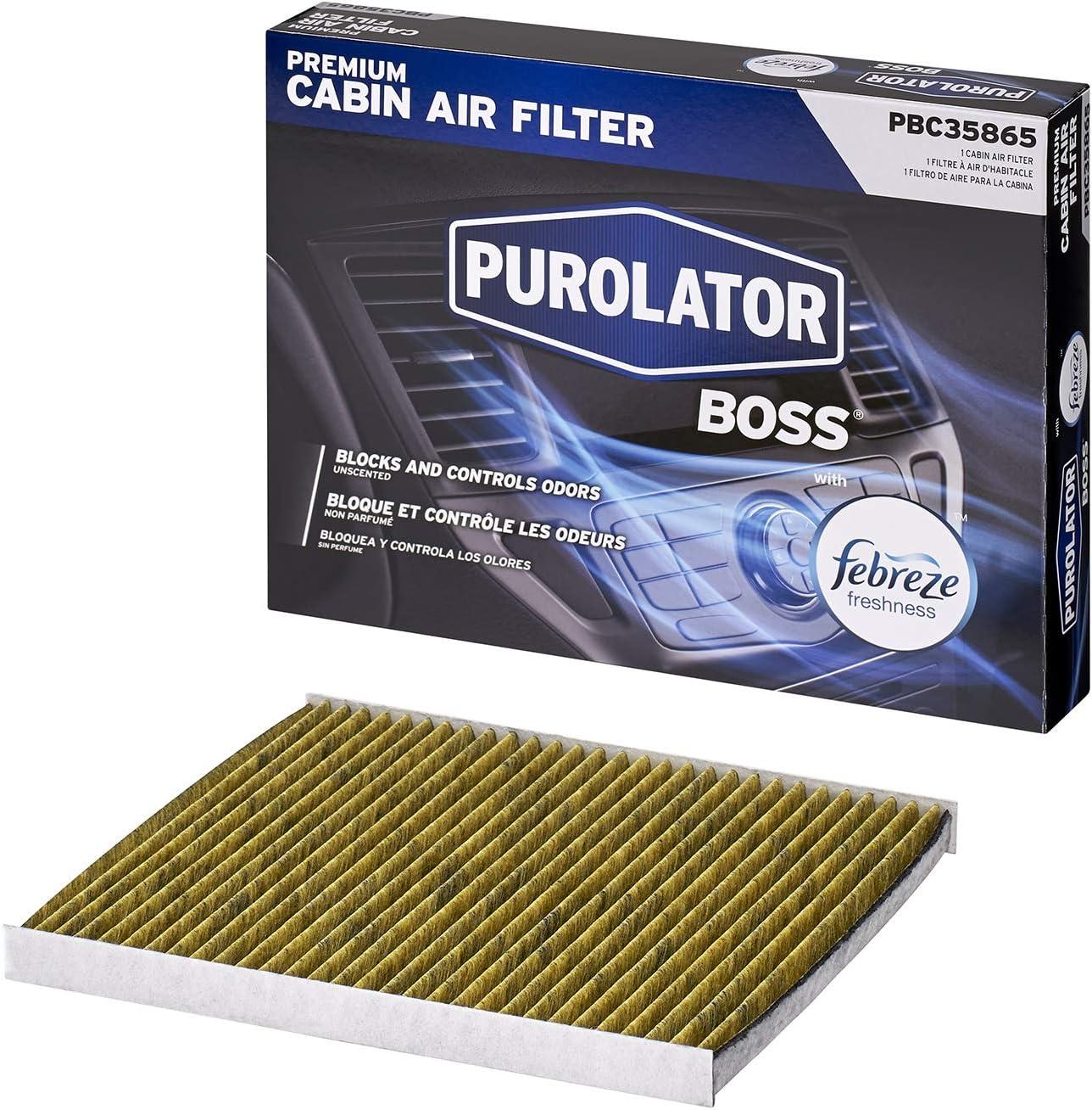 Purolator PBC35865 PurolatorBOSS Premium Cabin Air Filter with Febreze Freshness