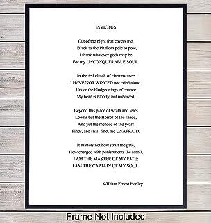 Amazoncom Invictus Famous Poem By William Ernest Henley I
