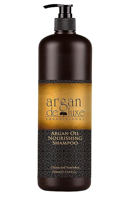 Argan DeLuxe Champú de Aceite de Argan, 1000ml, Cuidado del cabello Premiu