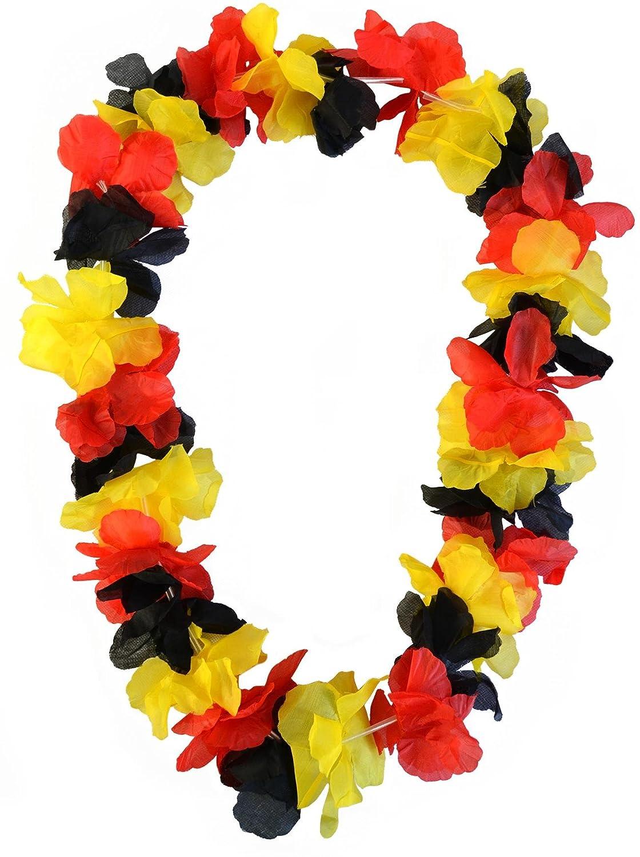 50 x Hawaiikette Blumenkette Deutschland 100cm Fanartikel WM EM