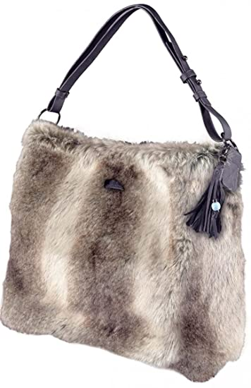 cc03ba489bcd1 Barts Faux Fur Bag Grey Marl Junior 39x44 cm and Woman Grey - One Size   Amazon.co.uk  Clothing