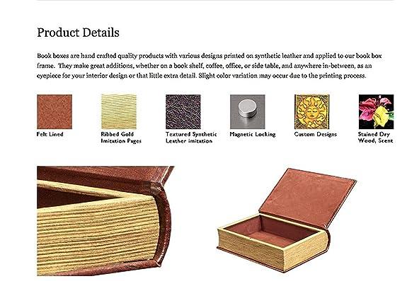 Amazon.com: Color Dorado Metálico Cruz Libro Caja – Secret ...