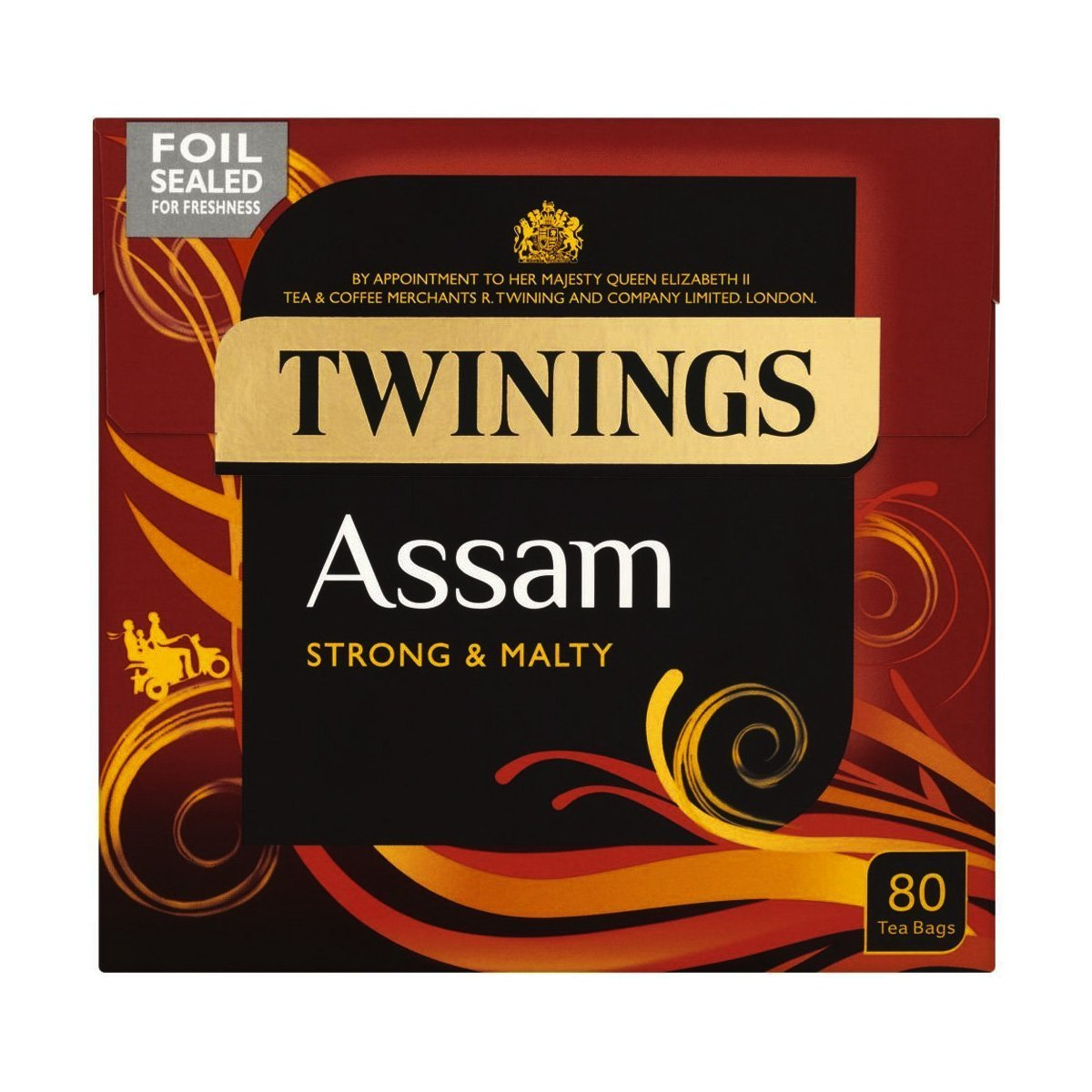 Twinings Assam Strong and Malty, 80 Tea Bags Style:Twinings Assam Strong and Malty, 80 Tea Bags