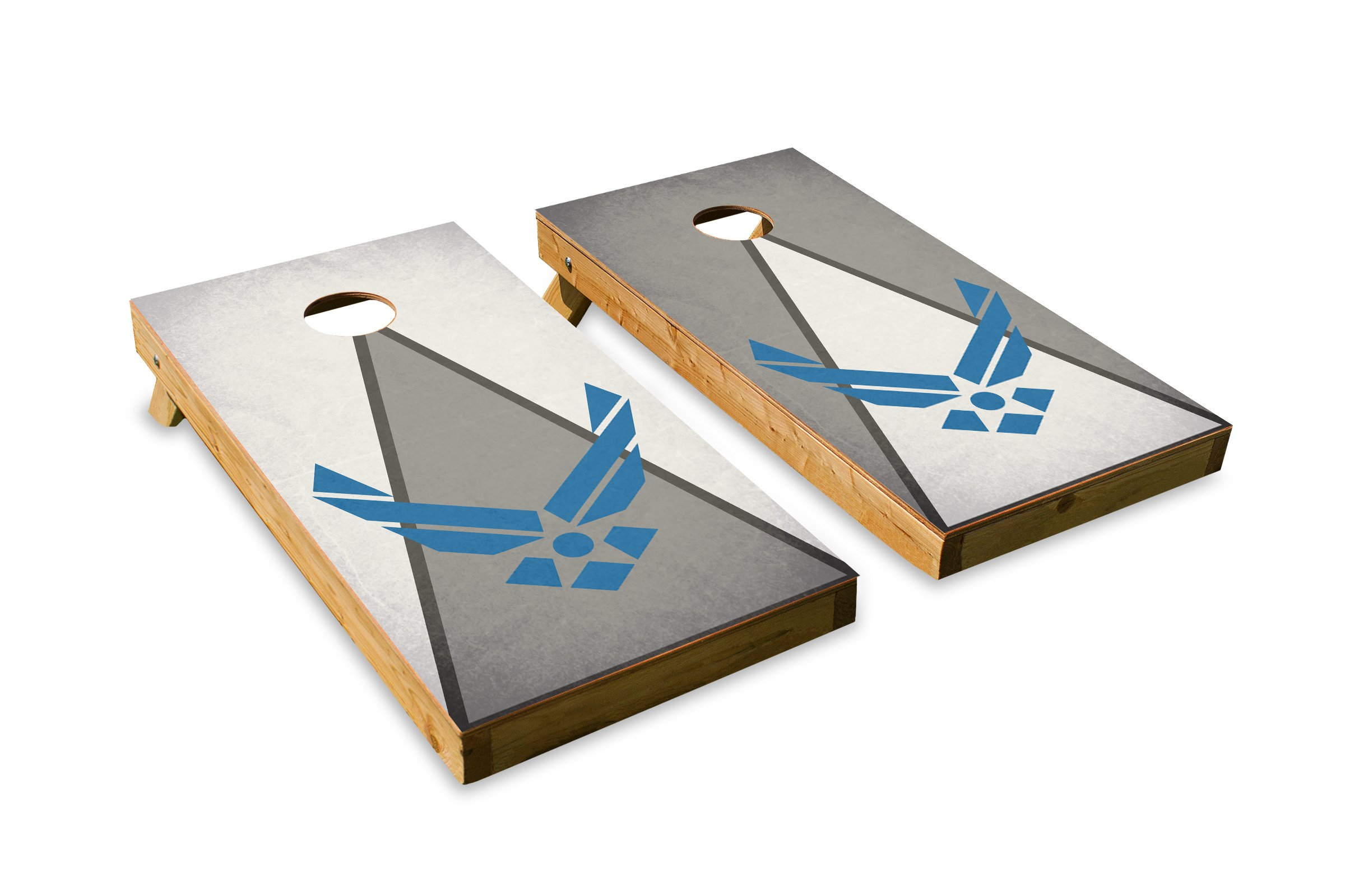 Airforce - Military Service - Cornhole Crew - ACA Regulation Size Cornhole Board Set
