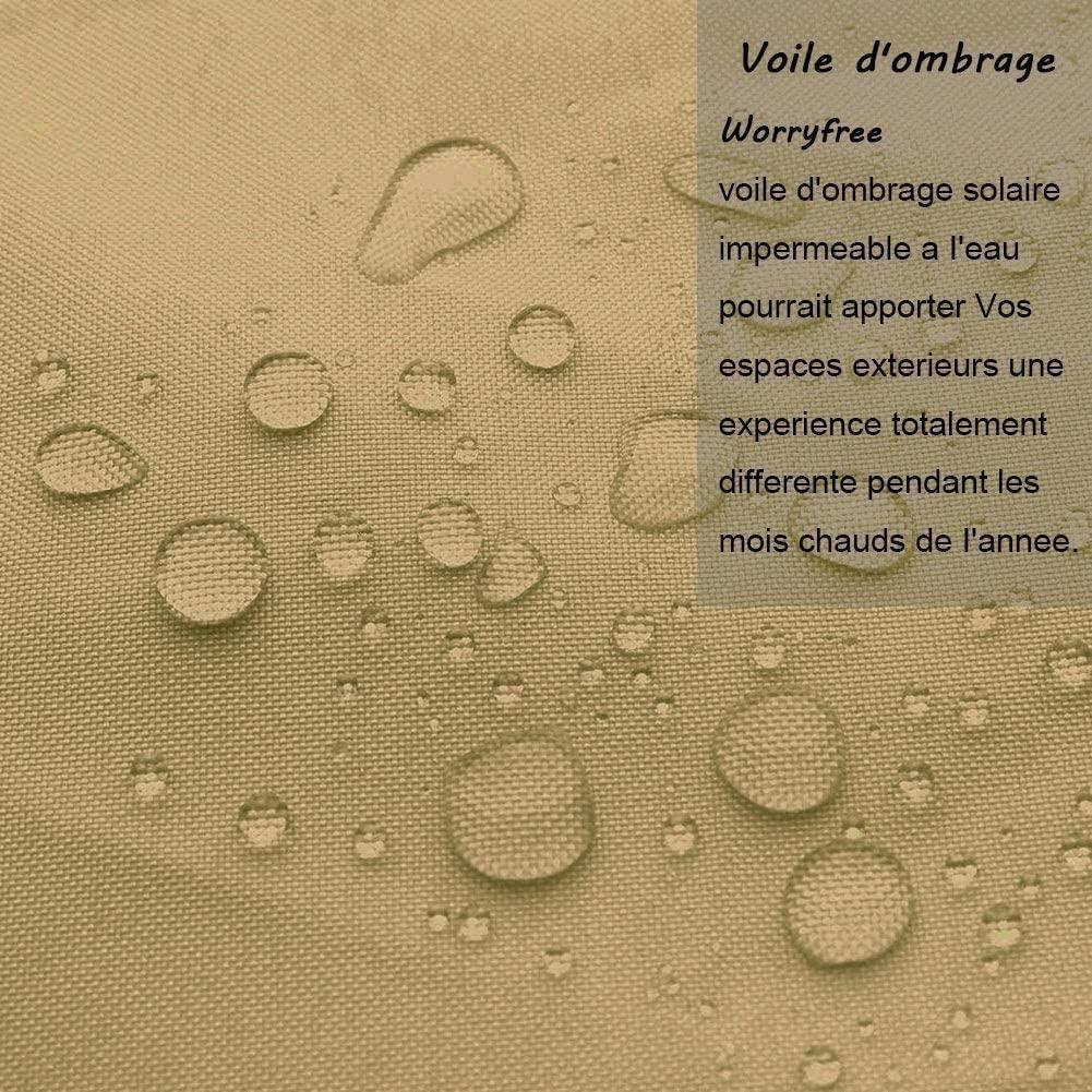 Velo De Sombra Impermeable Triangular, 95% Anti UV UV Pergola ...