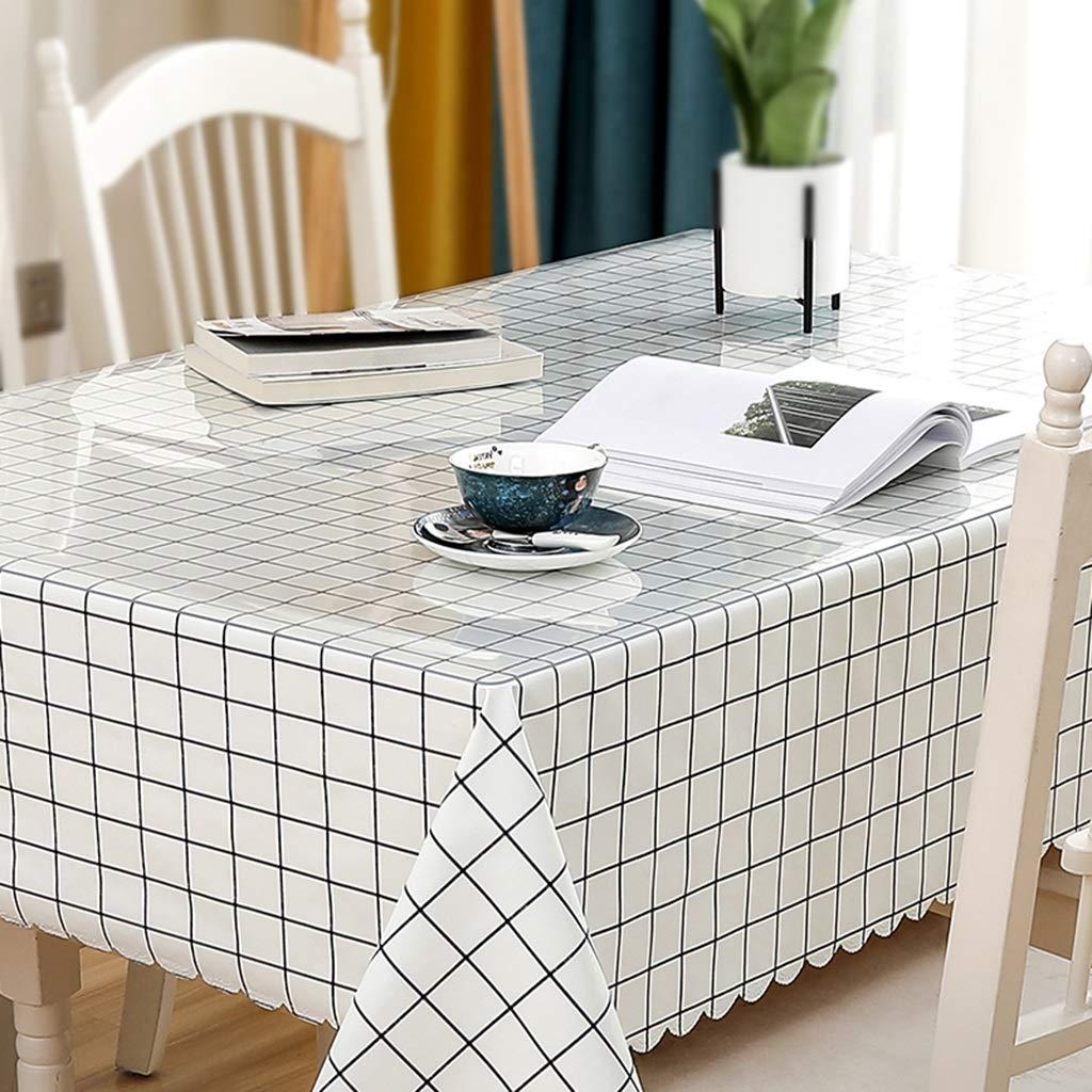 長方形のテーブルクロス、透明なPVC 1.3 mm厚いテーブルクロス+小さな新鮮なテーブルクロスの組み合わせセット CFJRB (Color : PVC+cloth, Size : 85X135+130X175cm) 85X135+130X175cm PVC+cloth B07SL9MT3K