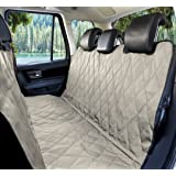 Extra Durable Pet Car Seat Cover For Dogs - Full Length Fit for Most Cars Trucks and SUV'S - Stabilizing Seat Anchors and Nonslip Backing - Easily Clean Up Any Mess and Protect Your Seats