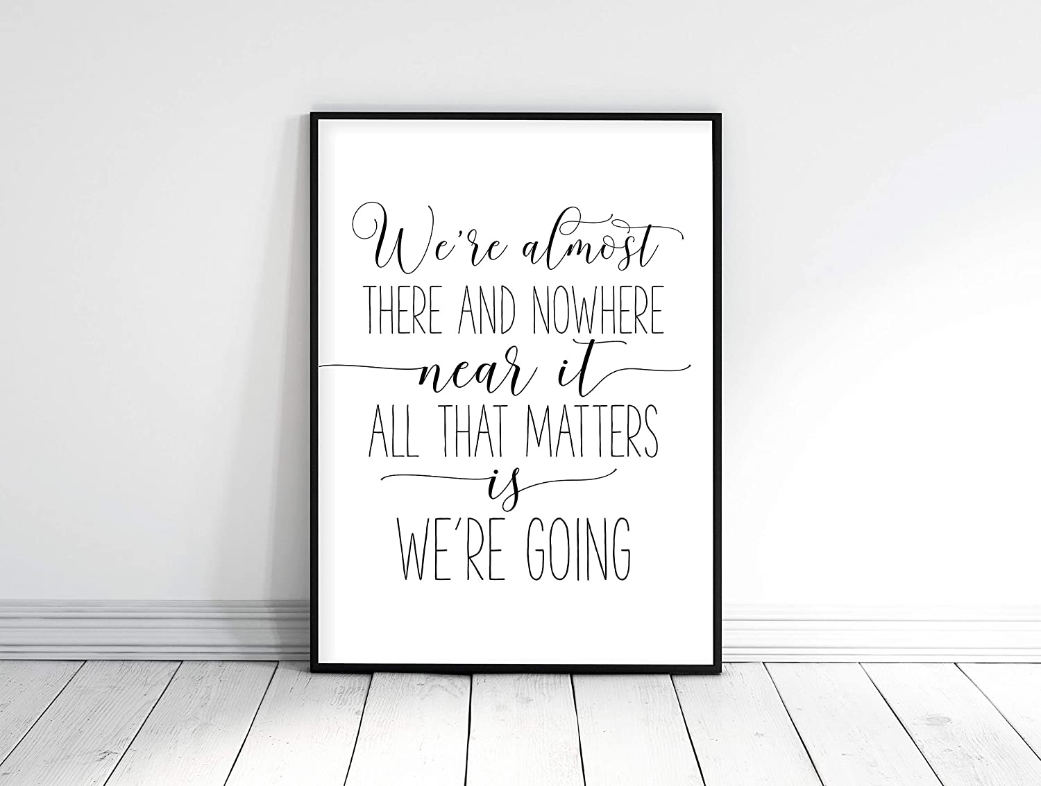 Motivational inspirational quote positive life poster picture print wall art 122
