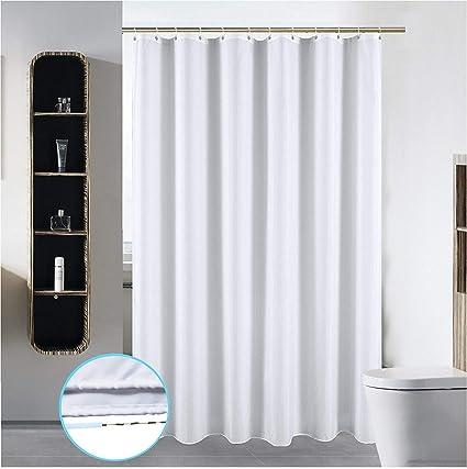 S·Lattye 72 X 78 Washable Shower Curtain Liner Bathroom Waterproof Fabric  Cloth Mildew Resistant